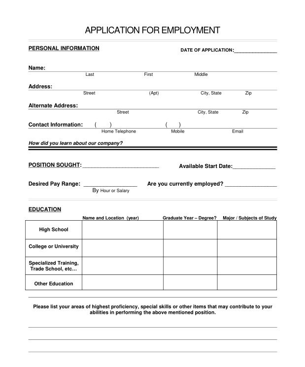 autozone printable job application pdf